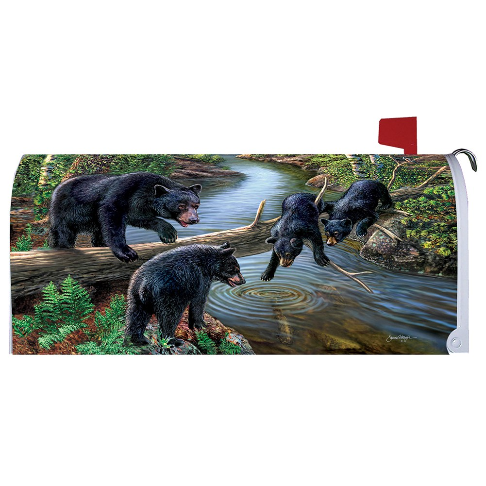 Black Bear Creek Mailbox Cover