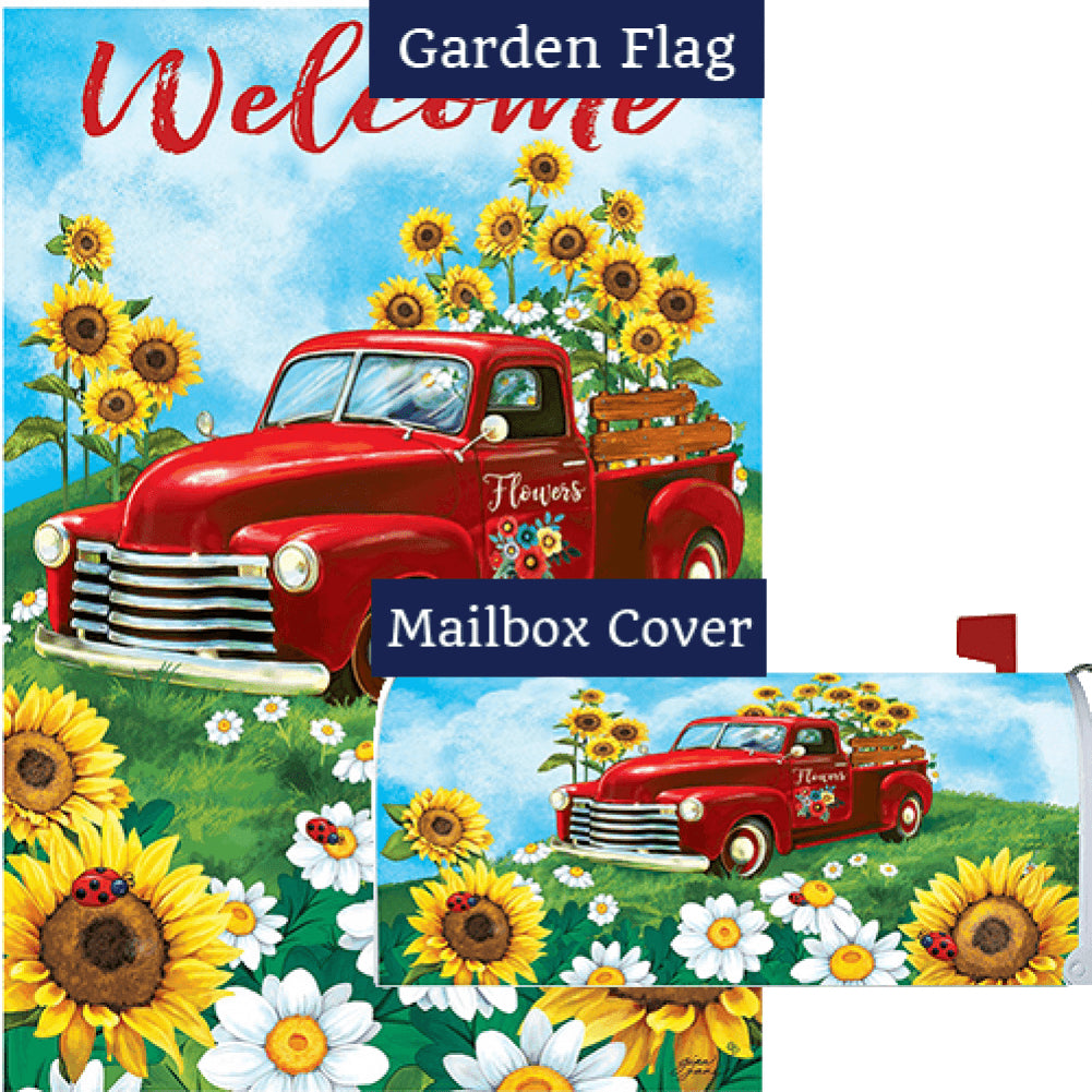 Sunflower Truck Flag Mailwrap Set (2 Pieces)