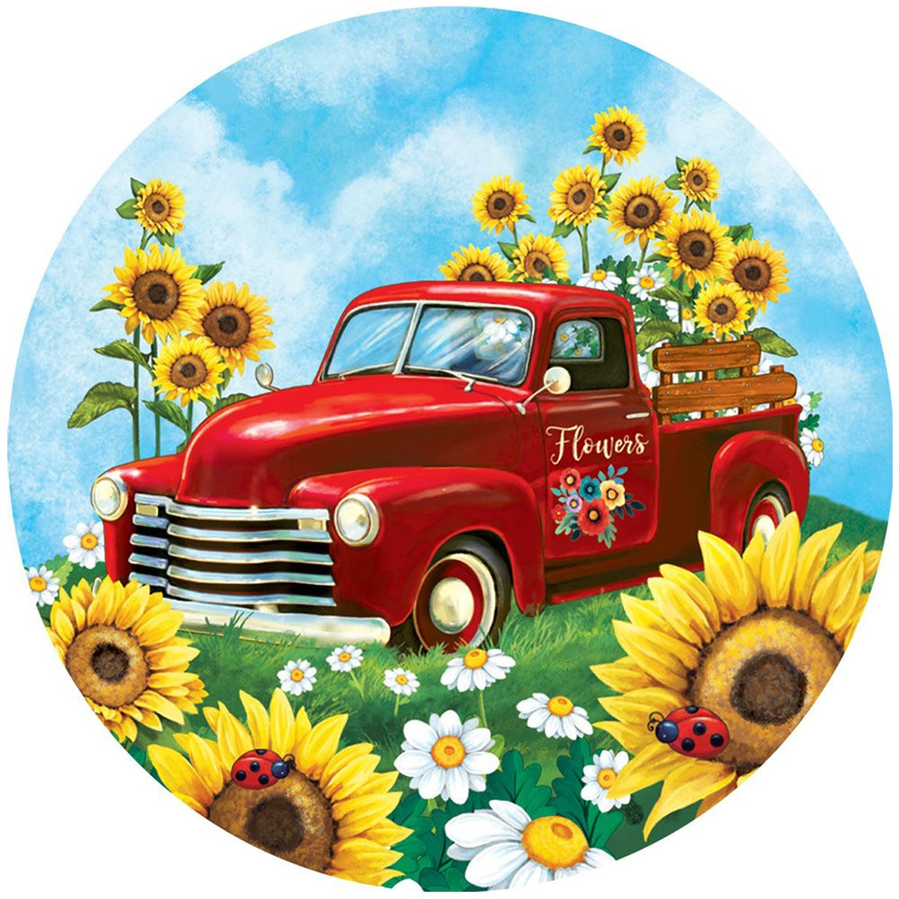 Sunflower Truck Accent Magnet