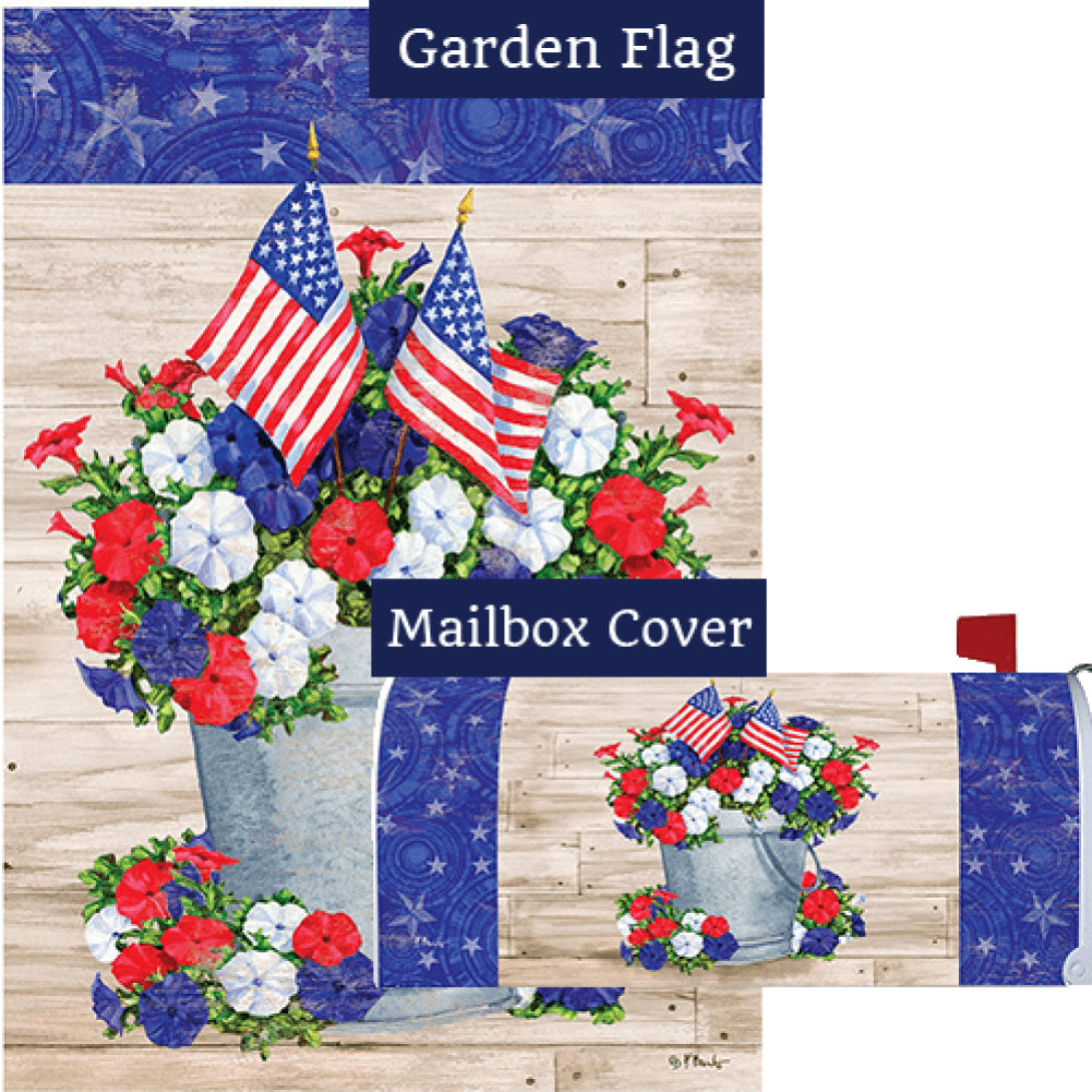 Patriotic Pail Flag Mailwrap Set (2 Pieces)