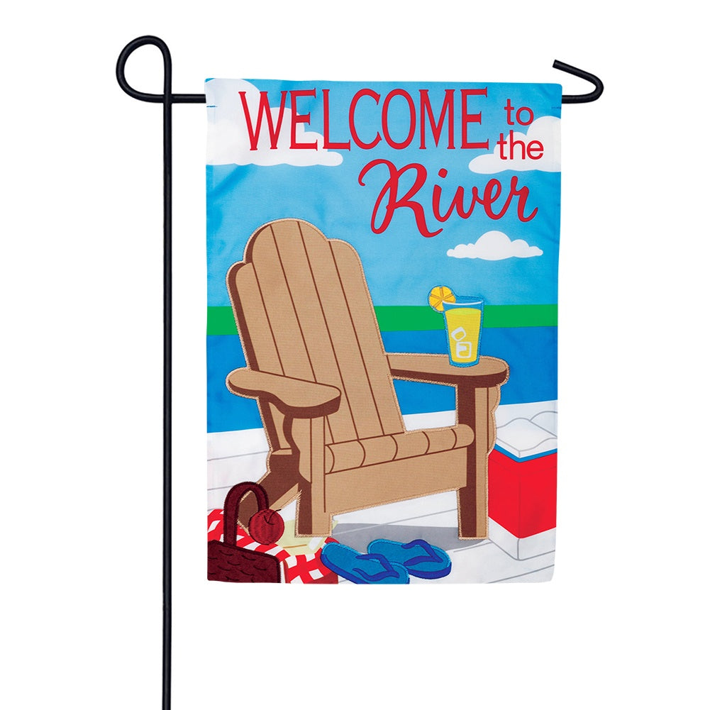 River Welcome Appliqued Garden Flag