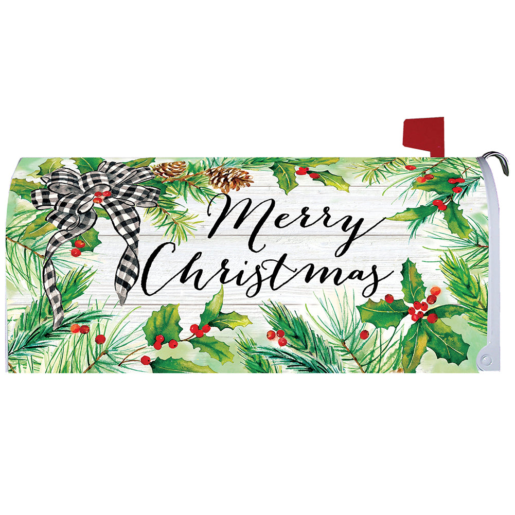 Christmas Greens Mailbox Cover