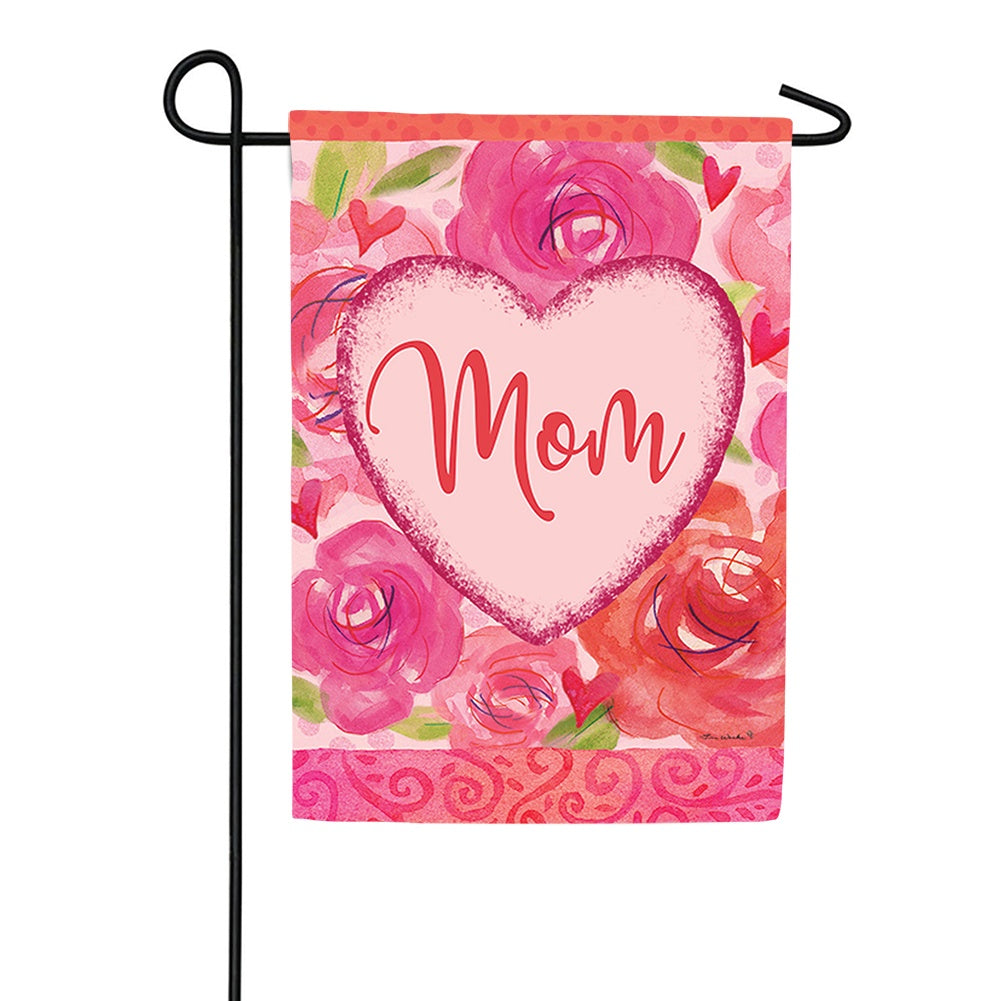 Mom Heart Double Sided Garden Flag
