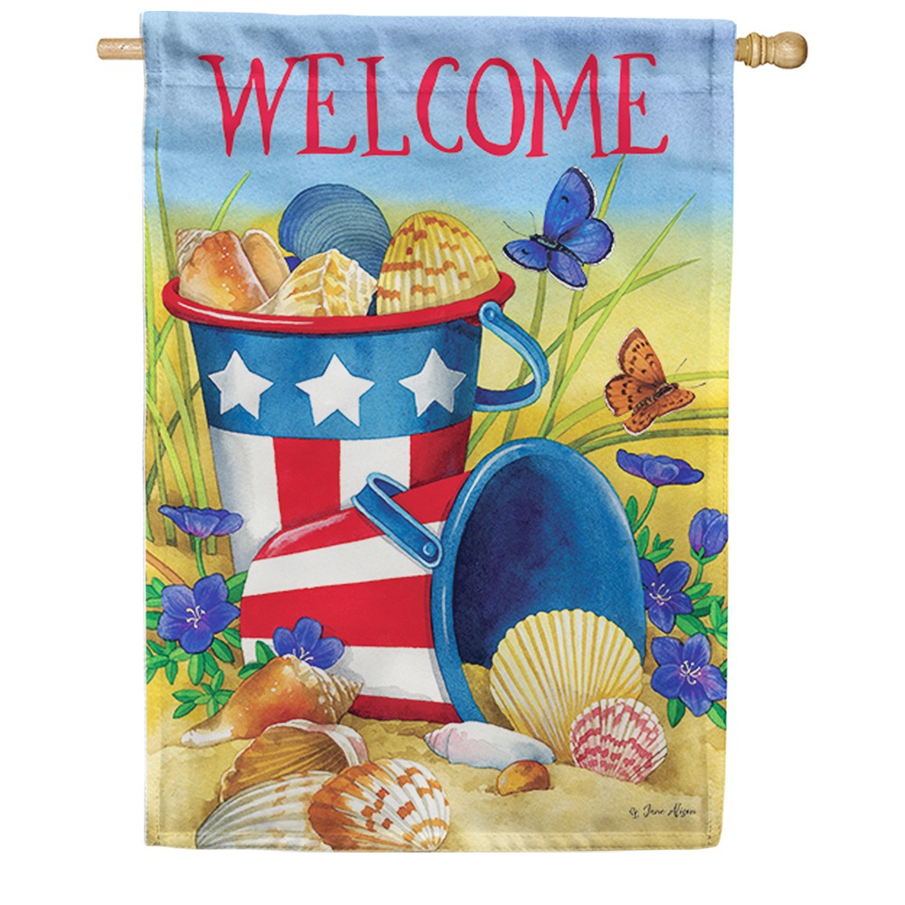 Beach Pails Double Sided House Flag