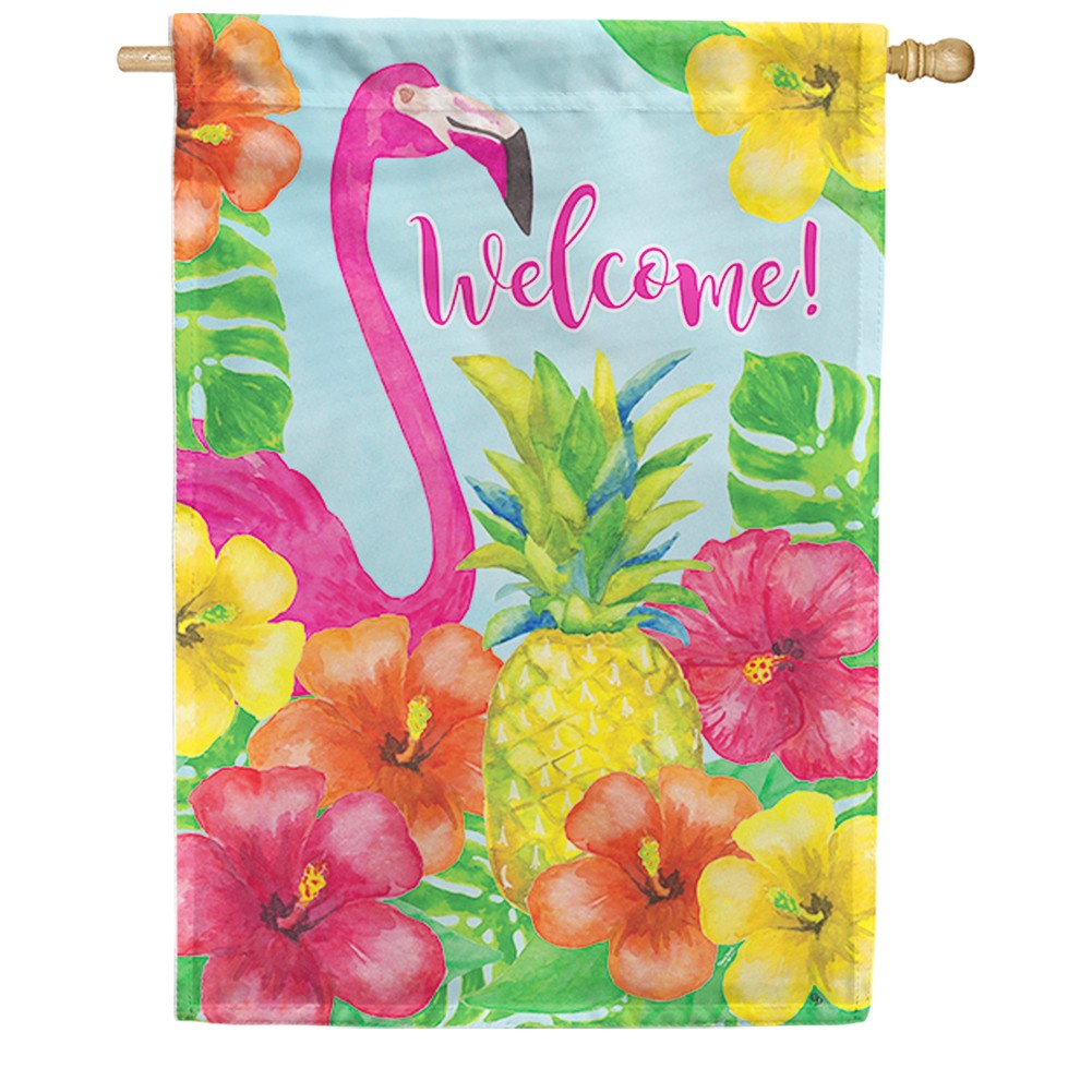 Flamingo Pineapple Double Sided House Flag