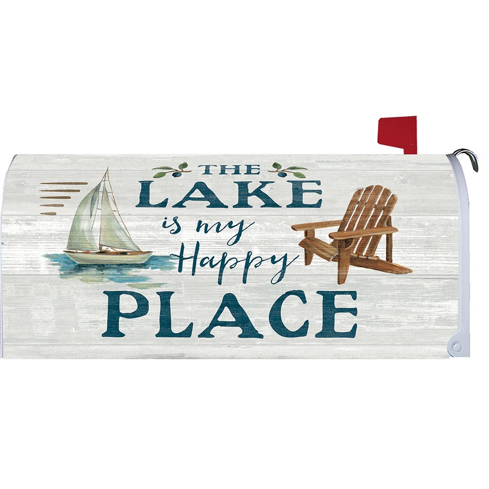 Lake Happy Place Mailbox Cover