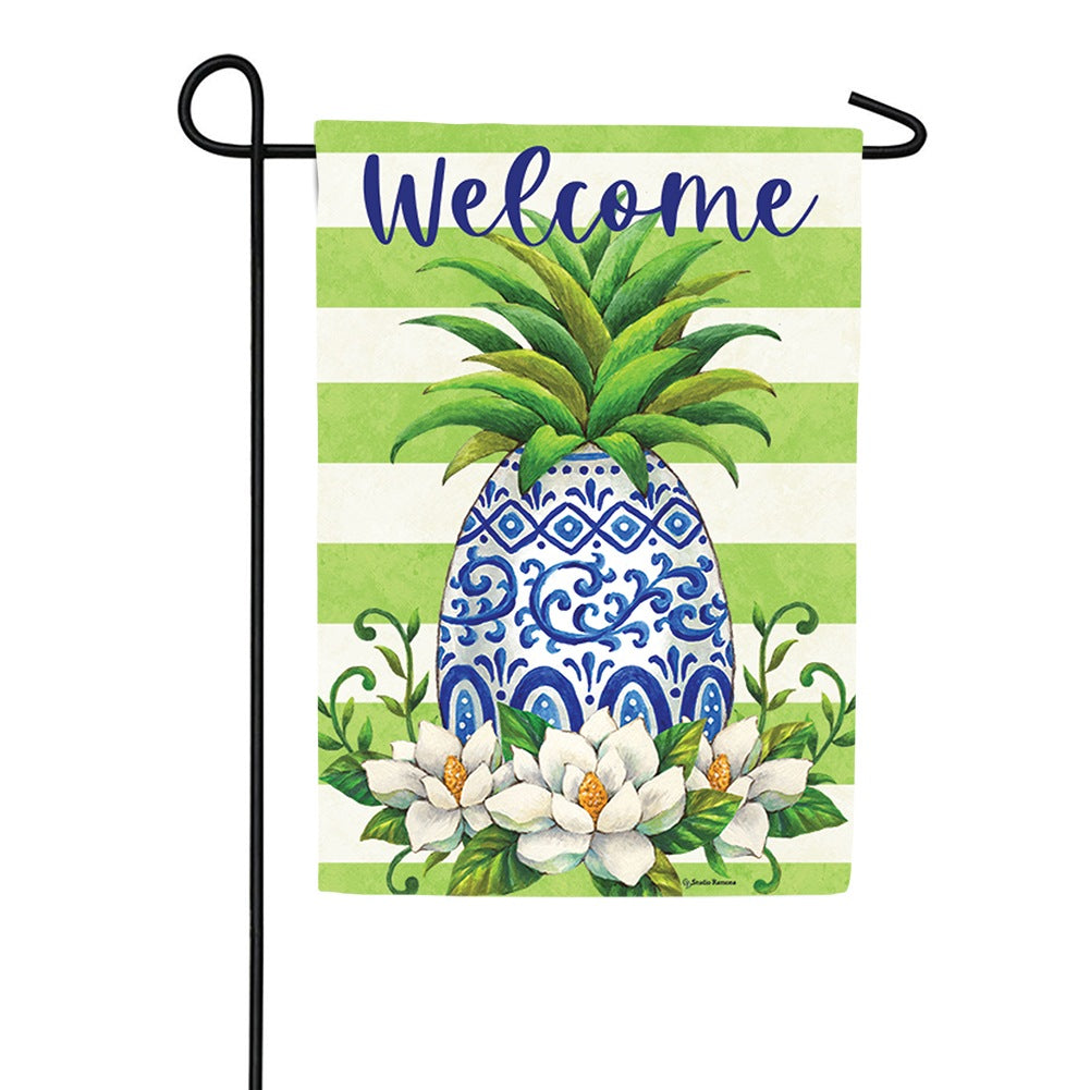 Pineapple Magnolia Double Sided Garden Flag