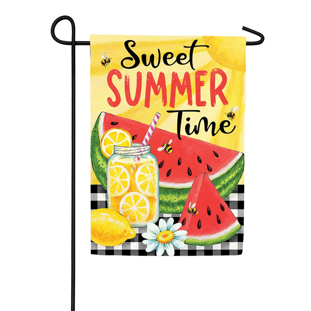 Sweet Summertime Double Sided Garden Flag