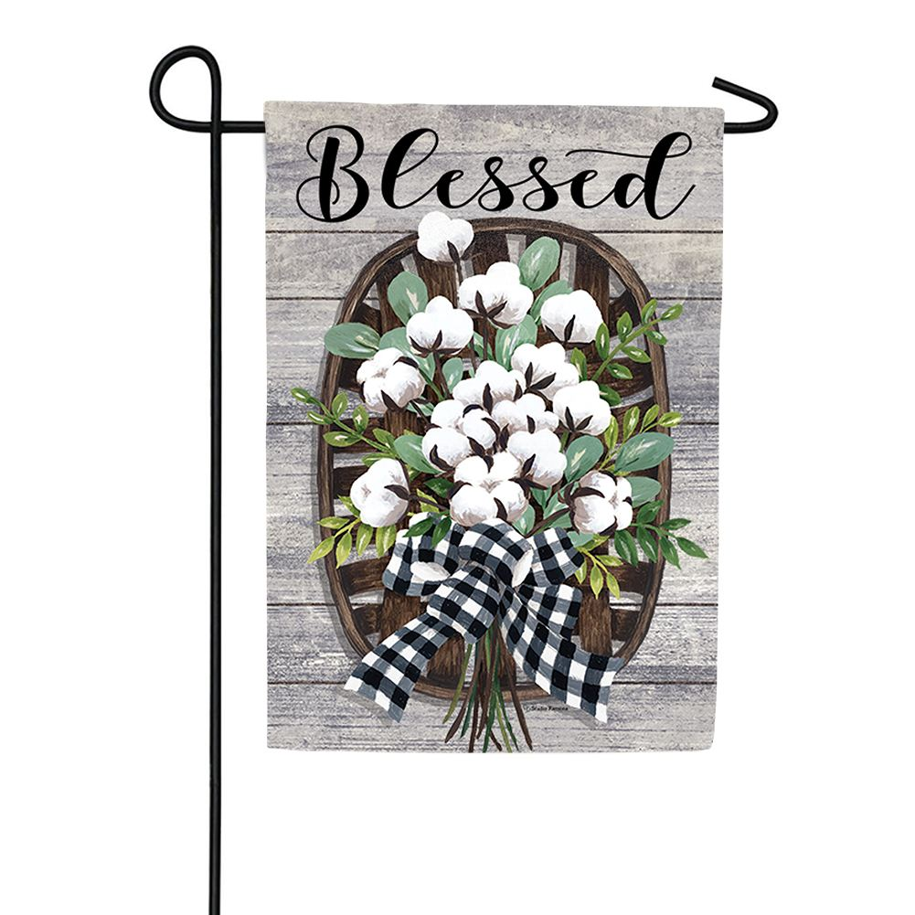 Cotton Basket Double Sided Garden Flag