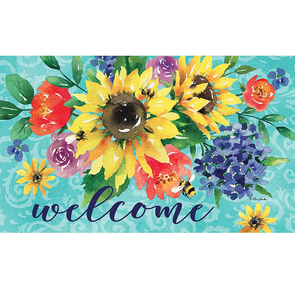 Summer Floral Bouquet Doormat