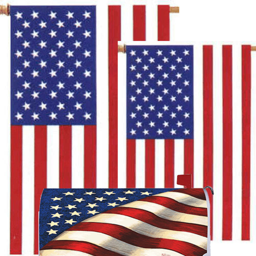 Stars and Stripes American Yard Makeover Set (3 Pieces)