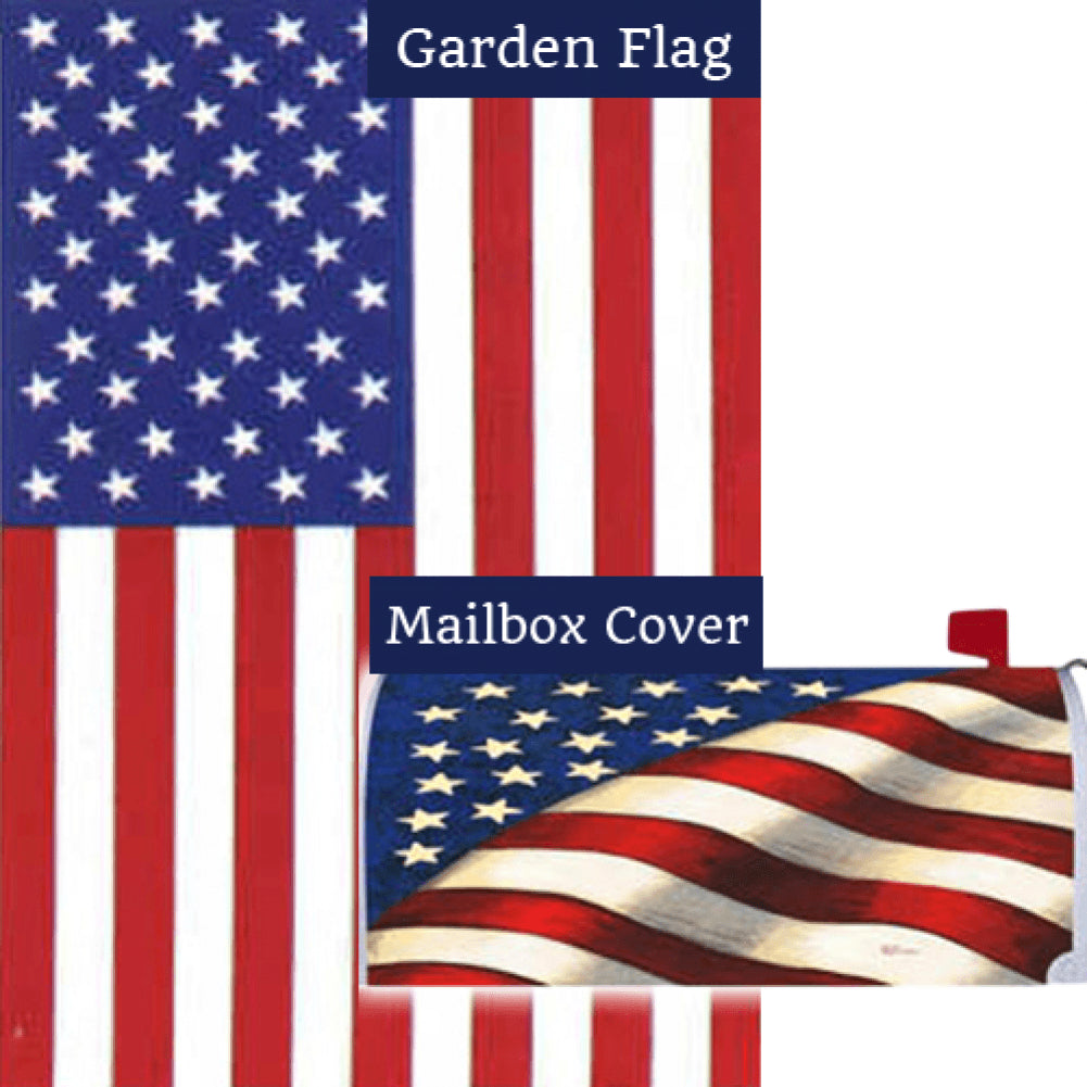 Stars and Stripes American Flag Mailwrap Set (2 Pieces)