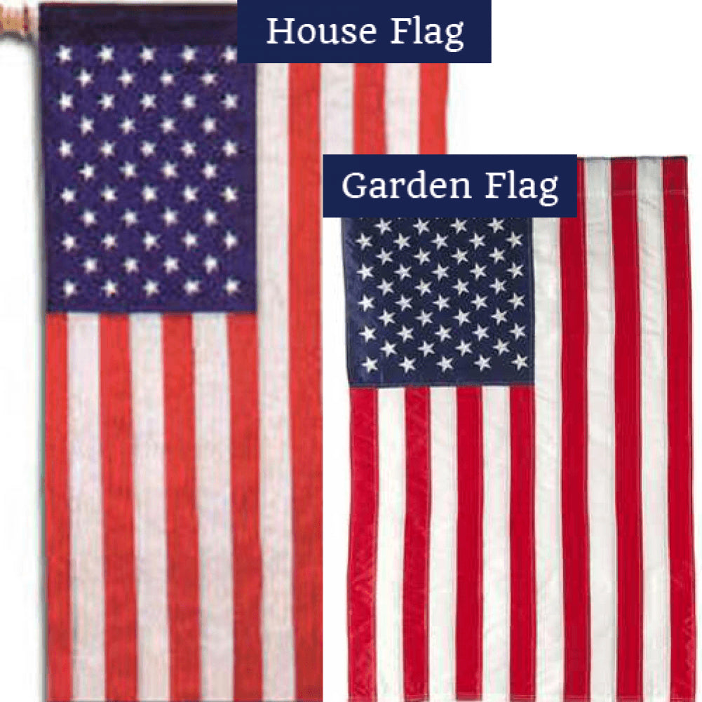 American Mini Sewn Flags Set (2 Pieces)