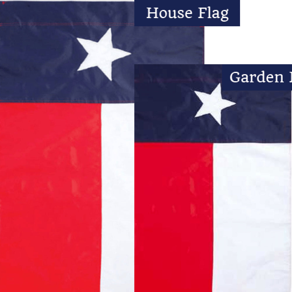 Texas State Appliqued Flags Set (2 Pieces)