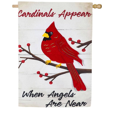When Angels Are Near Linen Double Sided House Flag