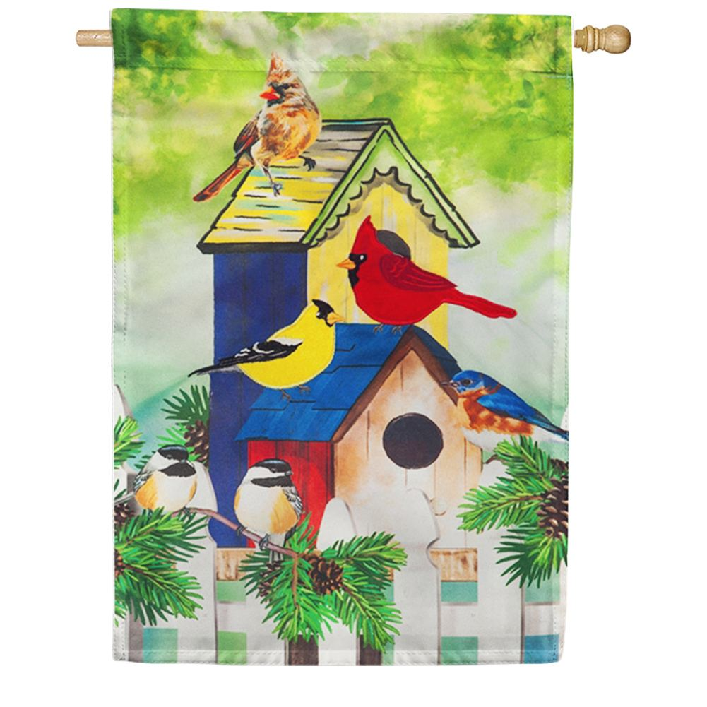 Fall Birds Linen House Flag