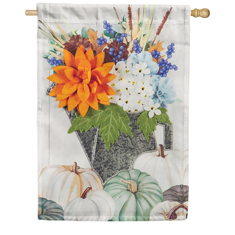 Soft Floral Watering Can Linen House Flag