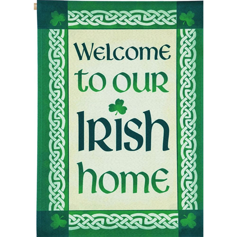 Our Irish Home Double Sided House Flag