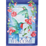 Hummingbirds Welcome Double Sided House Flag
