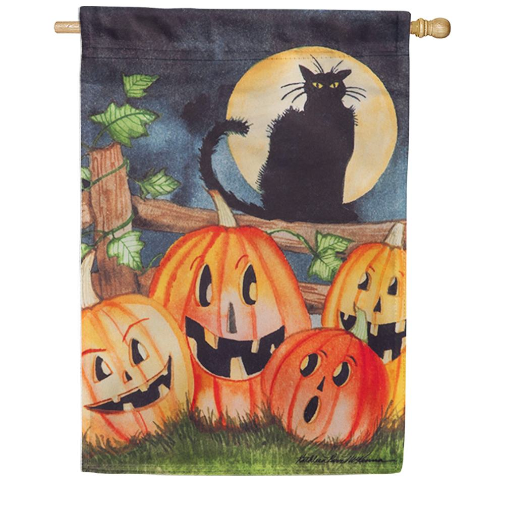 Haunting Halloween Night Suede House Flag