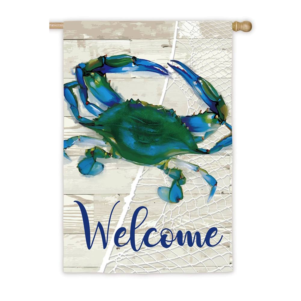 Evergreen Blue Crab Double Sided House Flag