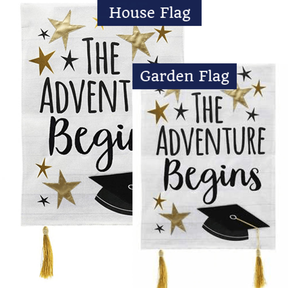 Graduation Adventure Burlap Flags Set (2 Pieces)