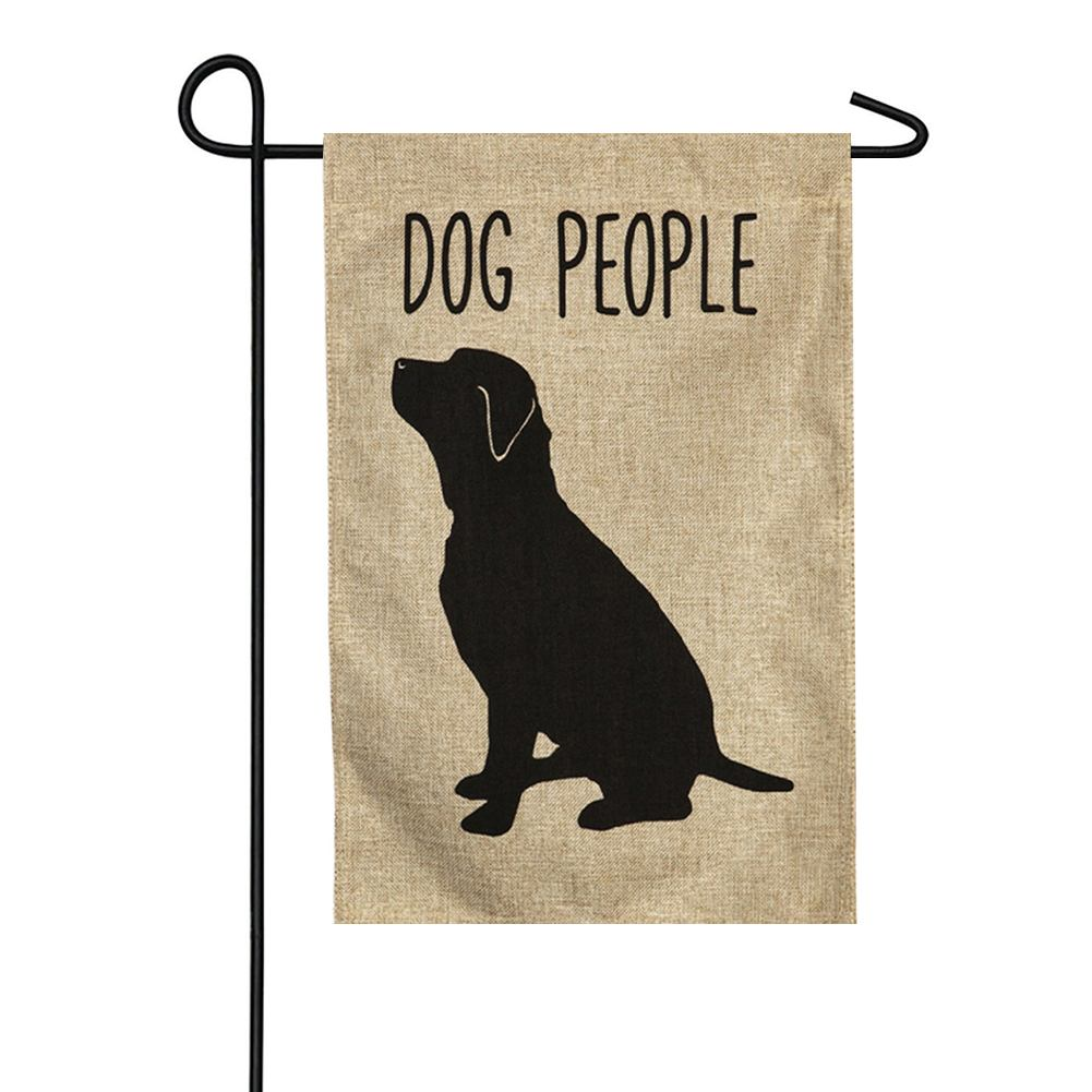 Dog People Burlap Garden Flag