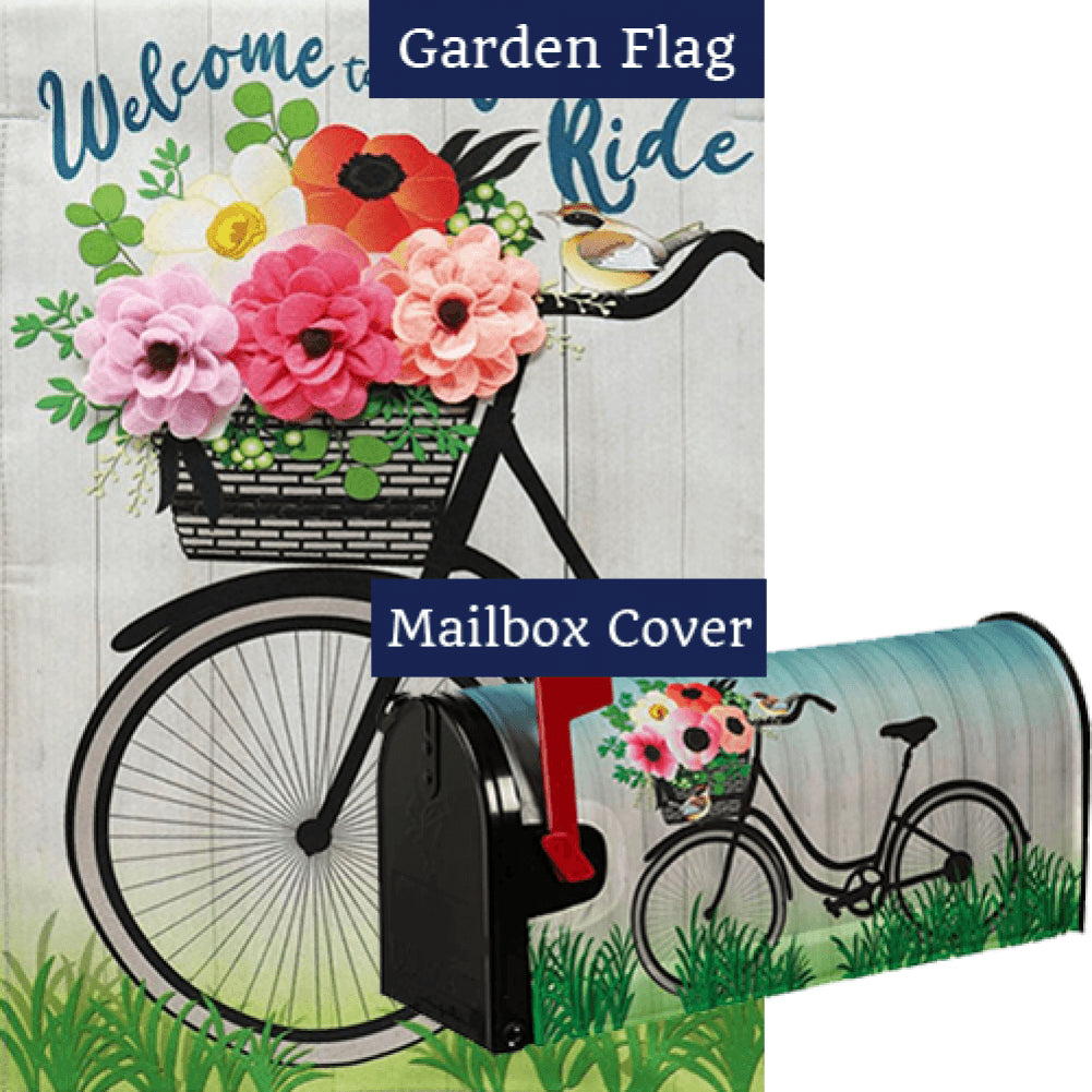 Wonderful Ride Linen Double Sided Flag Mailwrap Set (2 Pieces)