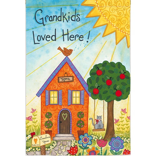 Grandkids Loved Here Double Sided Garden Flag