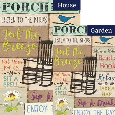 Porch Rules Double Sided Flags Set (2 Pieces)