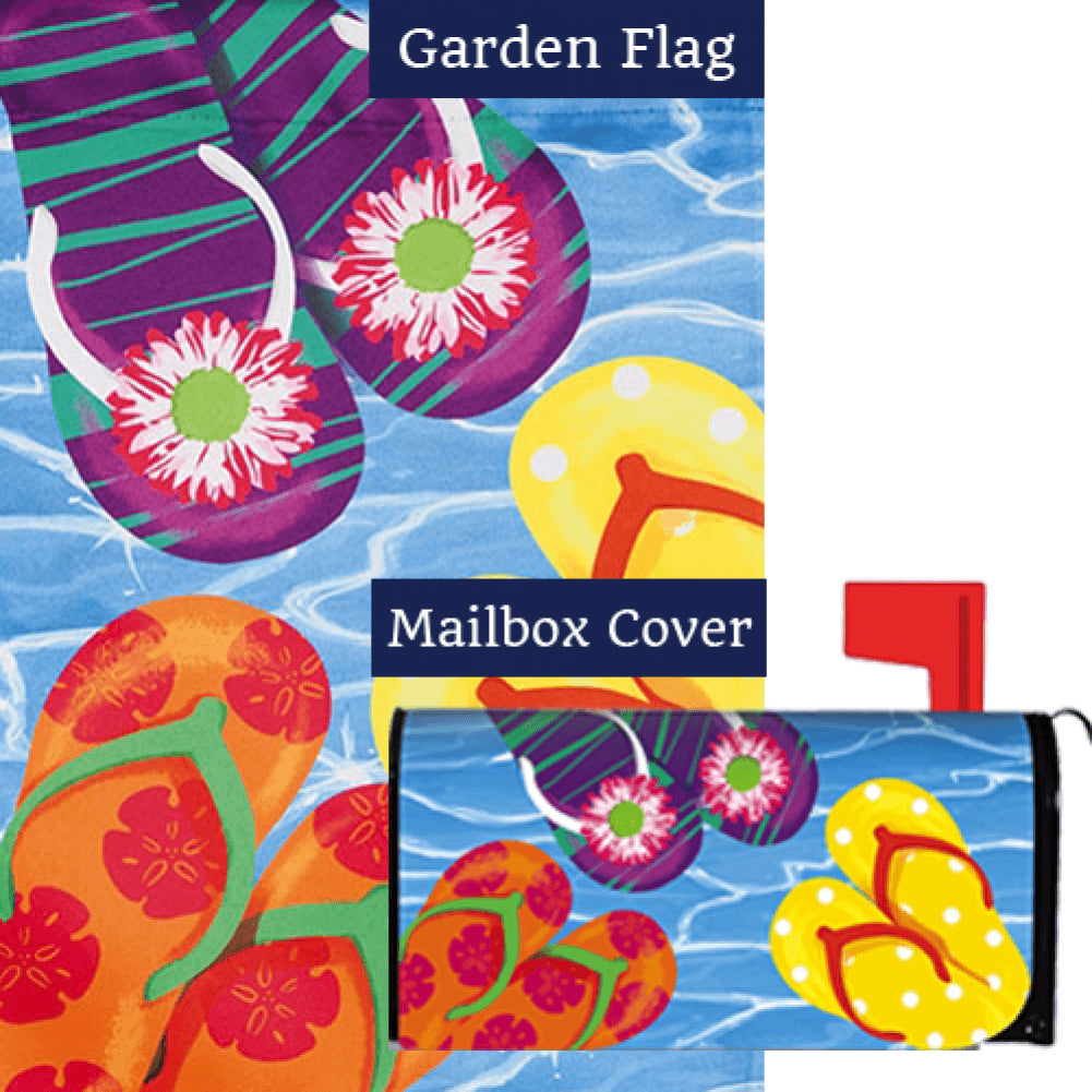 Bright Flip Flops Flag Mailwrap Set (2 Pieces)