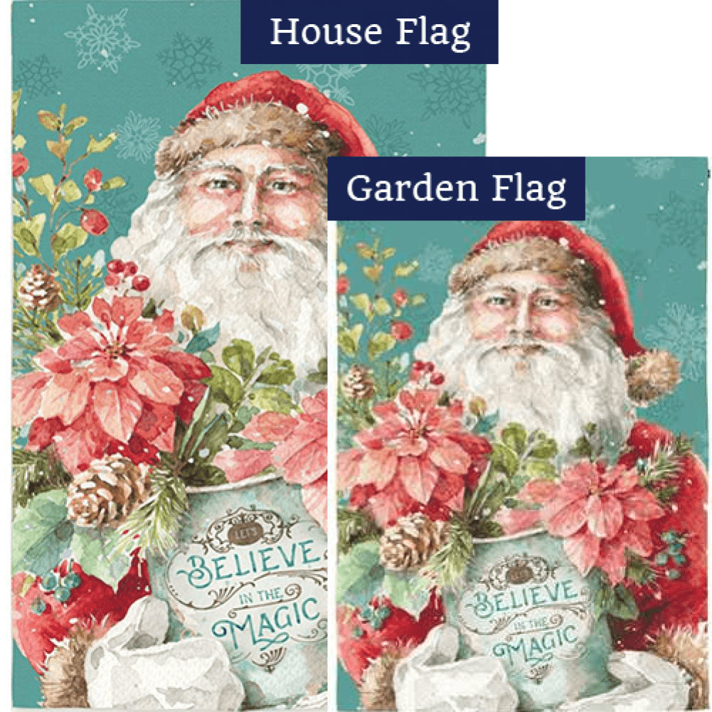 Christmas Magic Santa Flags Set (2 Pieces)