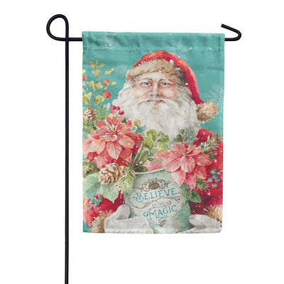 Christmas Magic Santa Garden Flag