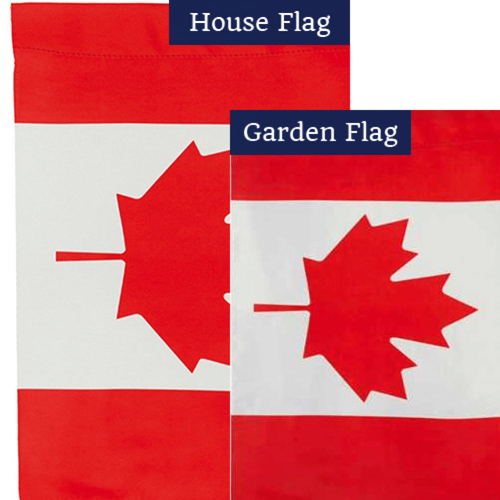 Canada Double Sided Flags Set (2 Pieces)