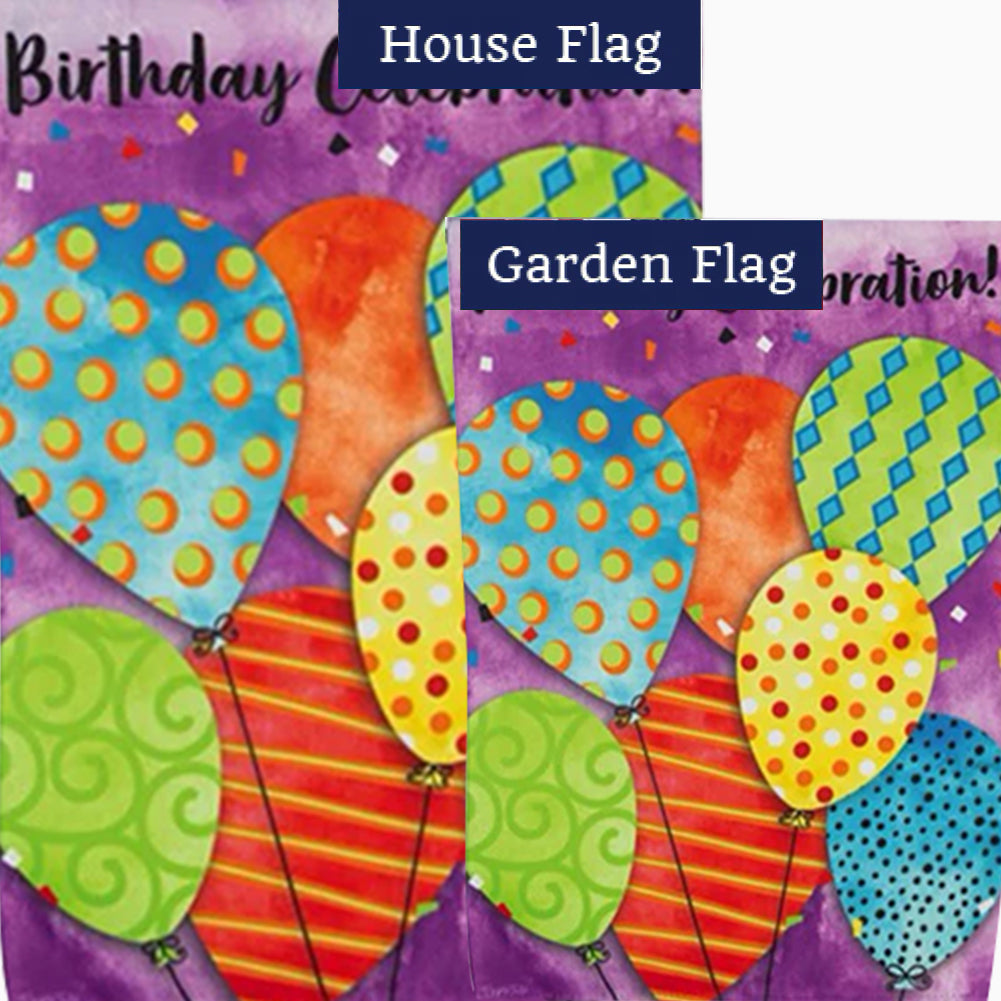 Birthday Celebration Double Sided Flags Set (2 Pieces)