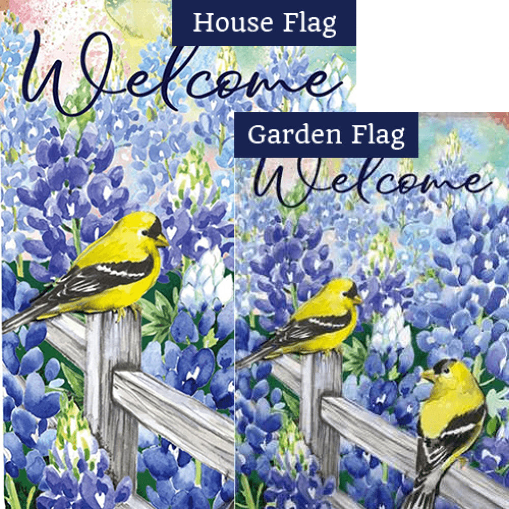Field of Bluebonnets Double Sided Flags Set (2 Pieces)