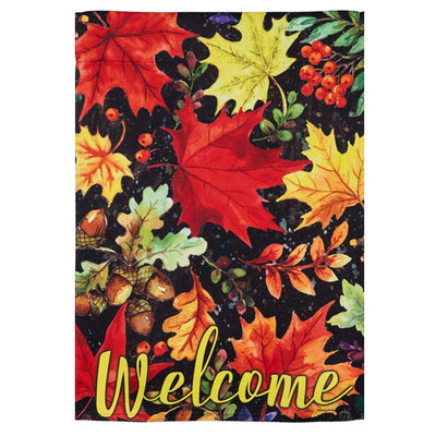 Colorful Fall Leaves Welcome Garden Flag