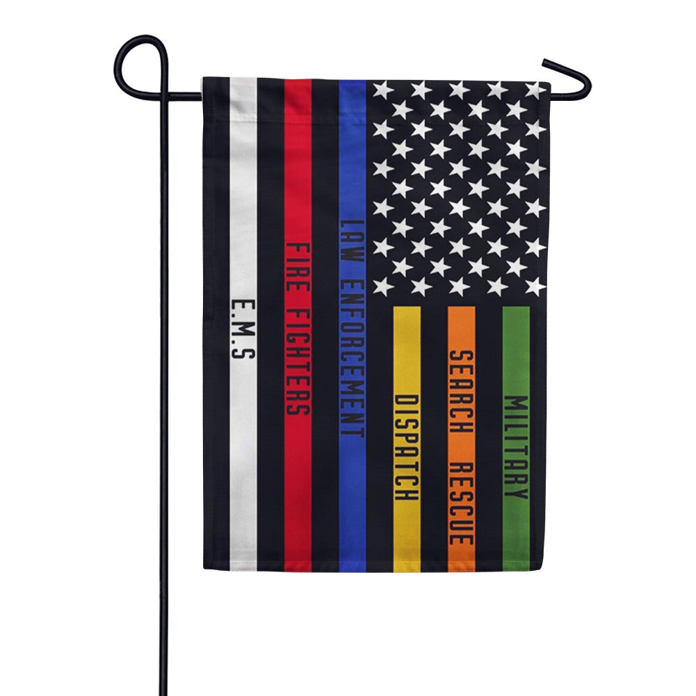 Responders Thin Line Double Sided Garden Flag
