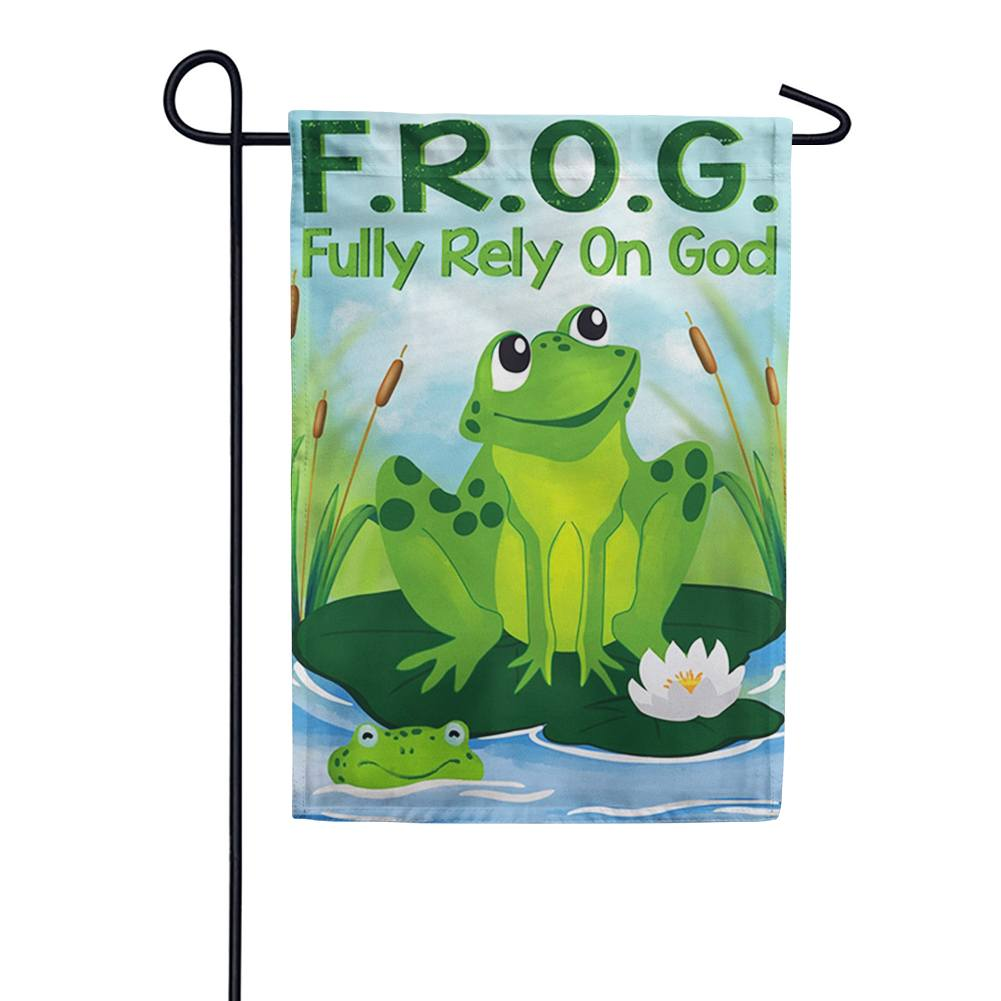 Fully Rely on God Double Sided Garden Flag