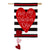 Valentine's Stripe Double Appliqued House Flag