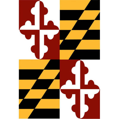 Maryland State Appliqued Garden Flag