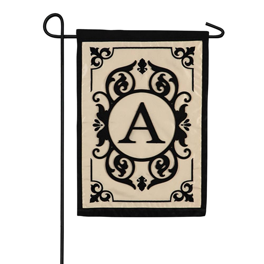 Cambridge Monogram Appliqued Double Sided Garden Flag