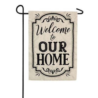 Welcome to Our Home Double Appliqued Garden Flag