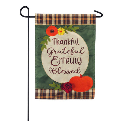 Truly Blessed Applique Garden Flag