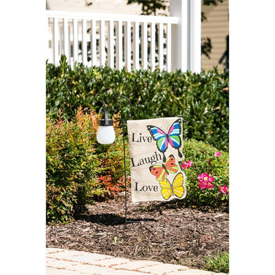 Shepherd's Hook Garden Flag Stand
