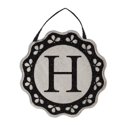 Scalloped Monogram Door Decor
