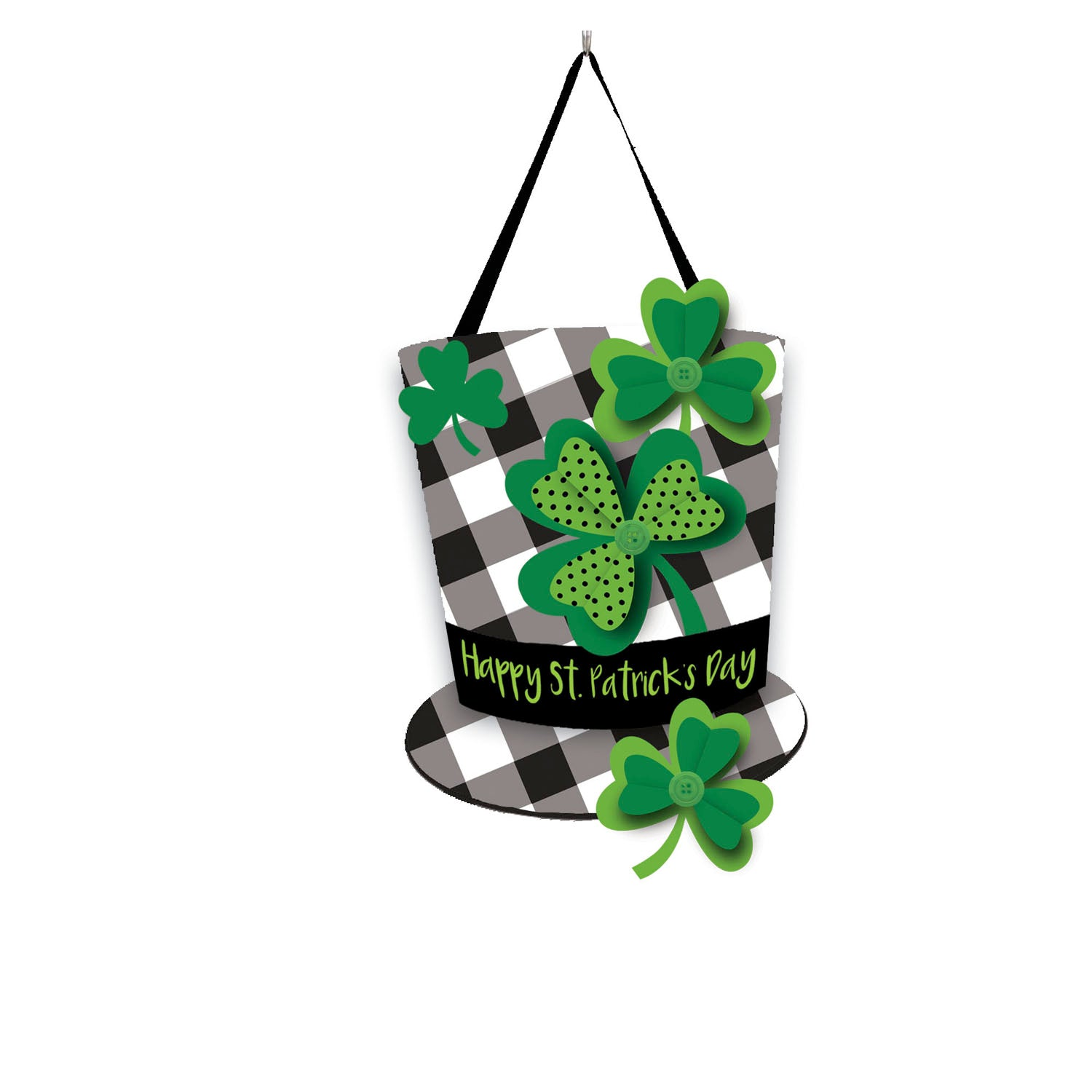 Plaid St. Patrick's Day Hat Door Decor
