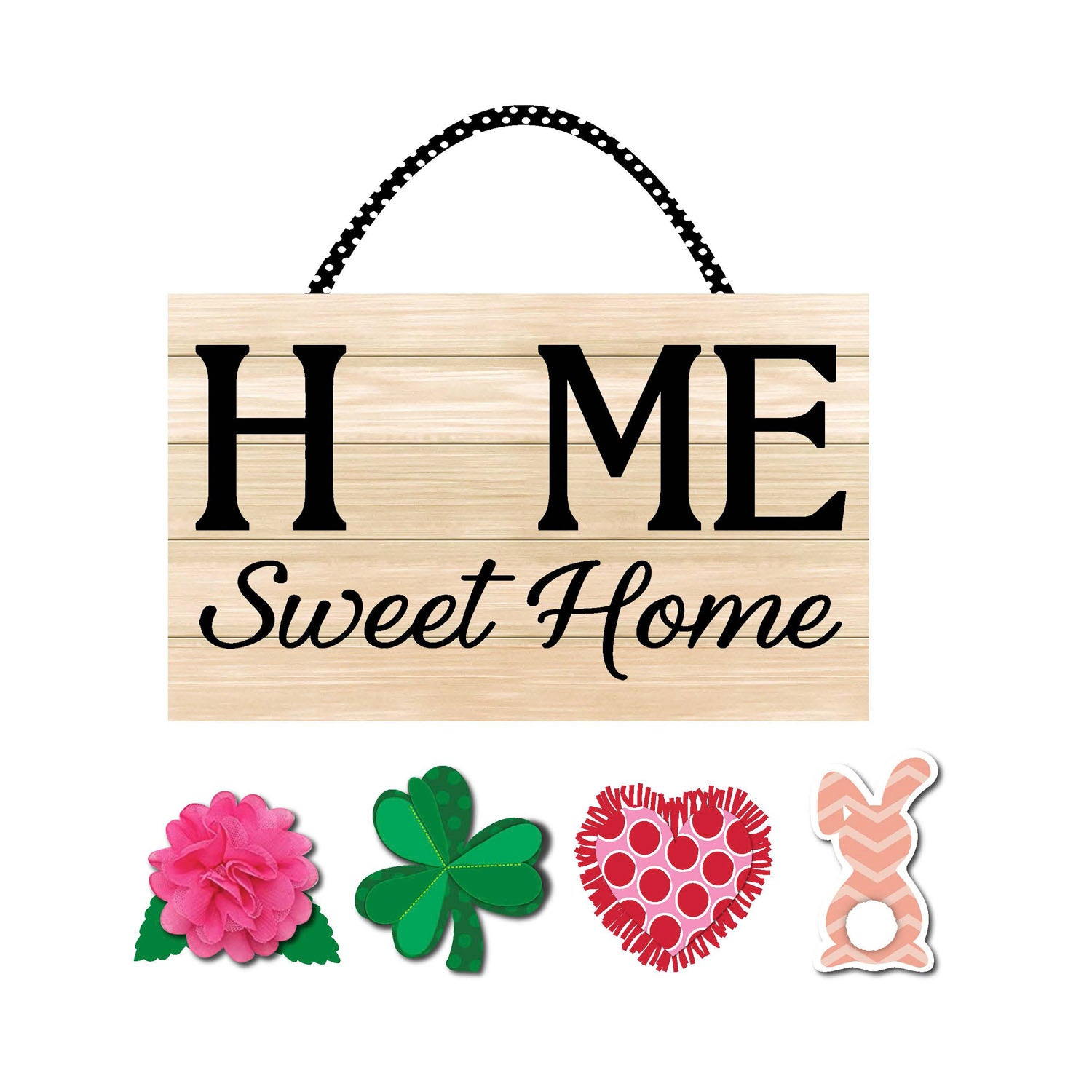 Spring Home Sweet Home Burlap Door Decor