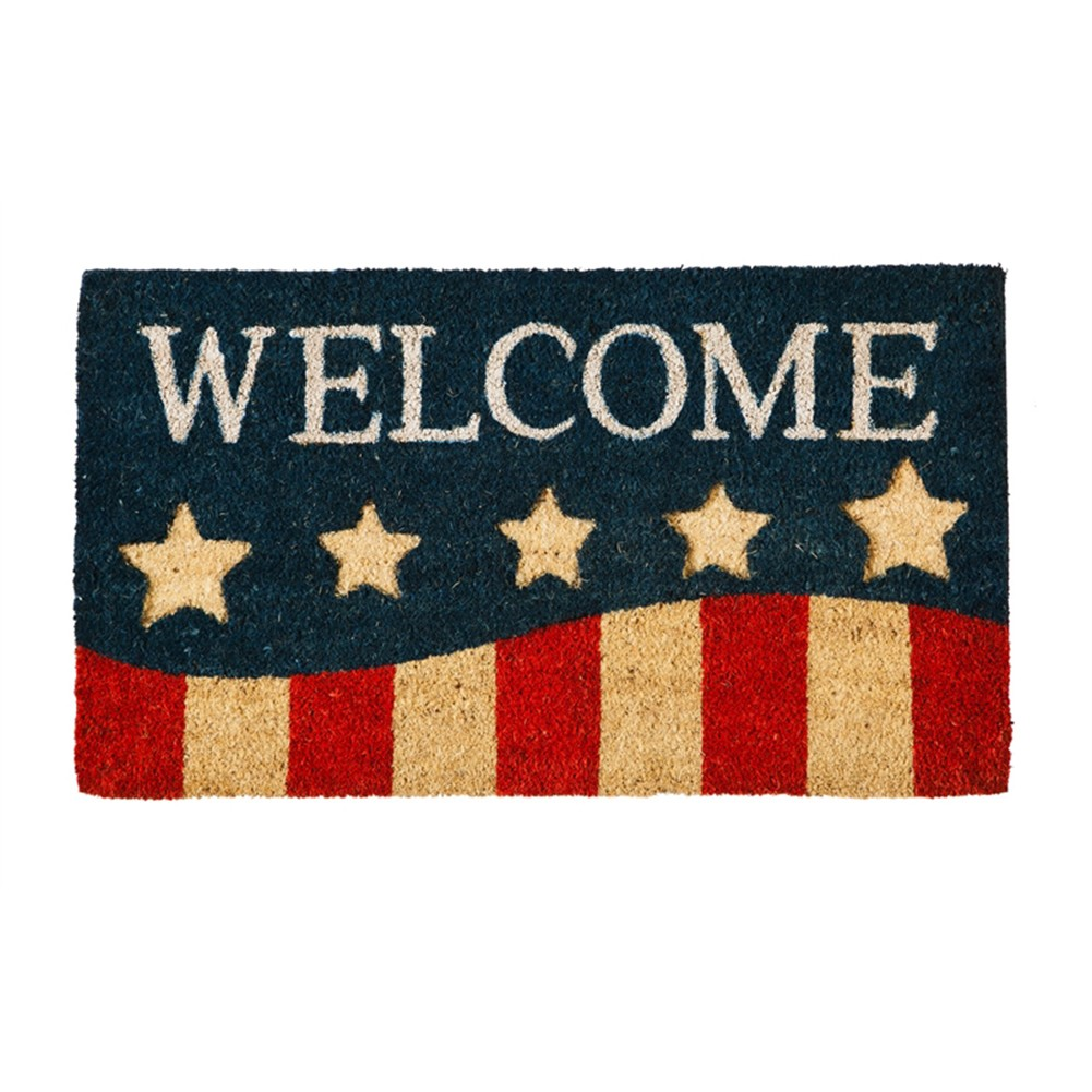 Patriotic Stripes Coir Floor Mat