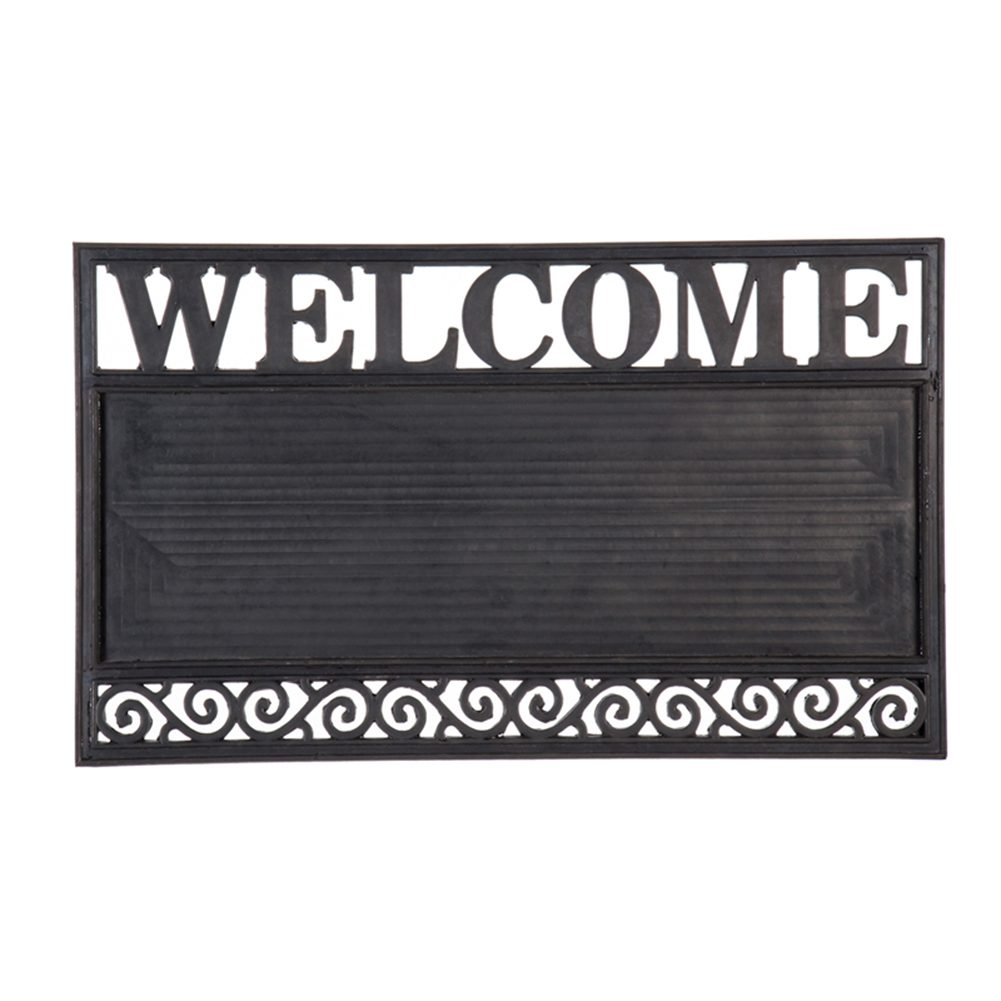 Welcome Scroll Kensington Coir Switch Mat Tray